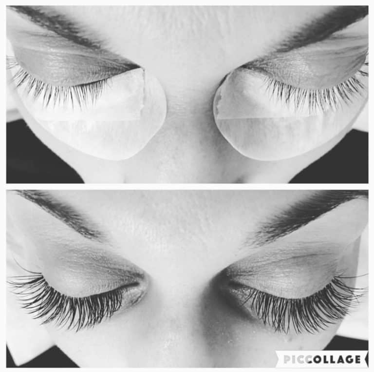 Girl with eyelash extensions